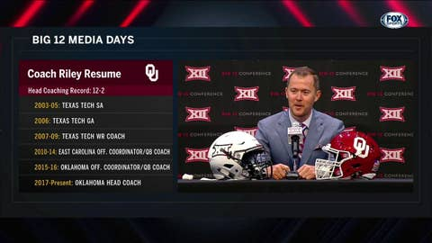 Riley on His Staff and Philosophy | Big 12 Media Days