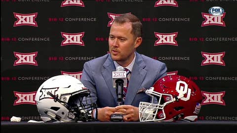 Linoln Riley on Finding Leaders in OU | Big 12 Media Days
