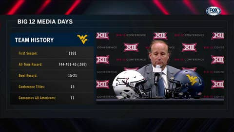 Holgorsen on Playing a Tough Opener | Big 12 Media Days