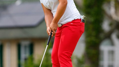 Sei Young Kim putts at the first hole during the third round of the ShopRite LPGA Classic tournament, Sunday, June 10, 2018. Galloway, NJ. (AP Photo/Noah K. Murray)