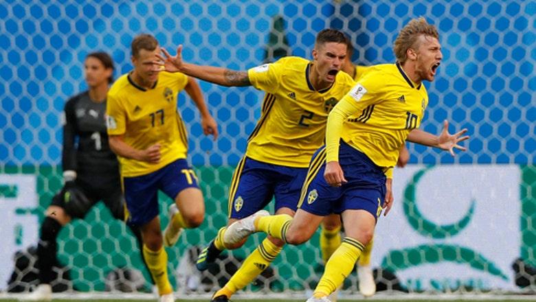 Forsberg sends Sweden into World Cup quarterfinals
