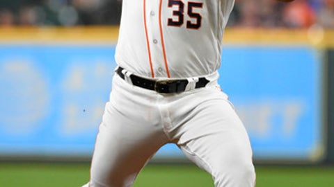 Houston Astros pitcher Justin Verlander throws to a Chicago White Sox batter during the first inning of a baseball game Thursday, July 5, 2018, in Houston. (AP Photo/Eric Christian Smith)