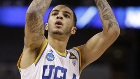 UCLA's Tyler Honeycutt (23) is seen against Michigas State during a Southeast regional second-round NCAA  tournament college basketball game in Tampa, Fla., Thursday, March 17, 2011. (AP Photo/Chris O'Meara)