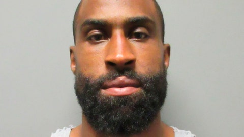 This photo provided by the La Verne Police Department, in California, shows Brandon Browner. Browner, a former NFL football cornerback, was arrested Sunday, July 8, 2018, after police say he broke into the Southern California house of an ex-girlfriend who has a restraining order against him. (La Verne Police Department via AP)