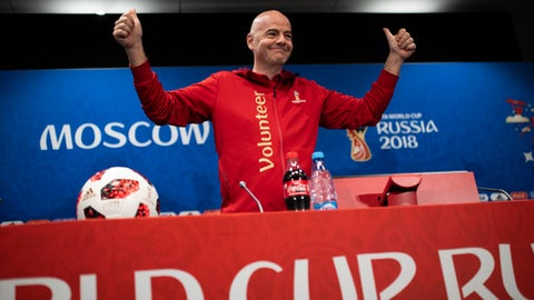 Infantino says VAR means the end of offside goals