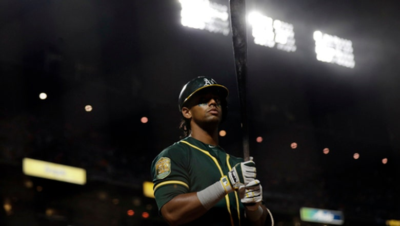 A's rally on Canha's pinch-hit home run to beat Giants 4-3