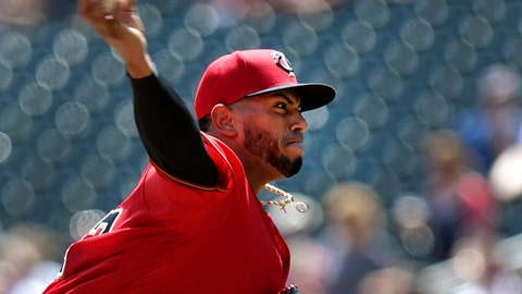 Minnesota Twins pitcher Fernando Romero throws against the Tampa Bay Rays in the first inning during a baseball game Sunday, July 15, 2018, in Minneapolis. (AP Photo/Andy Clayton-King)