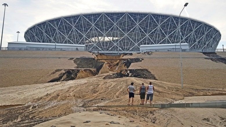 Landslide at World Cup stadium mars Russia's legacy
