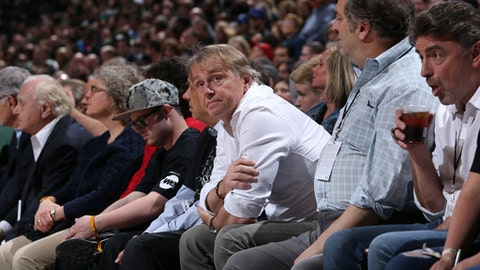 MILWAUKEE, WI - APRIL 26:  Milwaukee Bucks Owner Wes Edens enjoys Game Six of the Round One of the 2018 NBA Playoffs between the Boston Celtics and Milwaukee Bucks on April 26, 2018 at the BMO Harris Bradley Center in Milwaukee, Wisconsin. (Photo by Gary Dineen/NBAE via Getty Images)