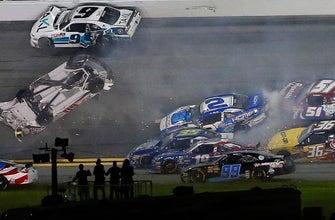 Austin Cindric barrel rolls in massive wreck at Daytona | 2018 NASCAR XFINITY SERIES