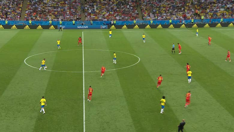 GABRIEL JESUS (Brazil) has a shot which is off target