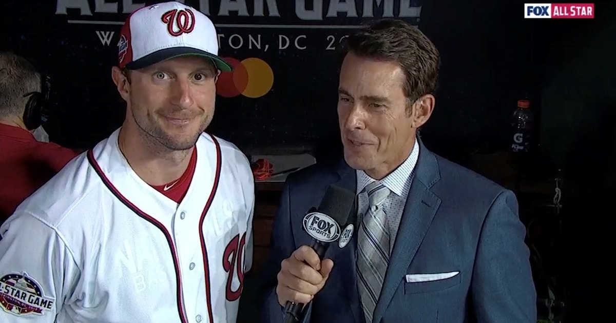 9822a4e43a8 Max Scherzer talks with Tom Verducci after starting the 2018 All-Star Game  for the National League