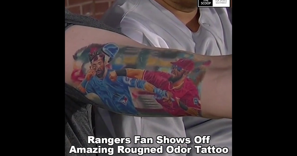 42d5bb3ee995f Rangers fan shows off amazing Odor-Bautista Tattoo | The Scoop | FOX Sports