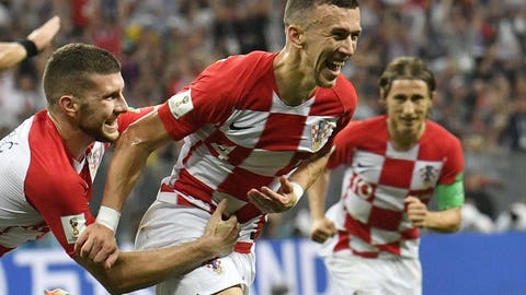 Ivan Perisic nets an early equalizer for Croatia