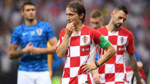 Croatia's heart, Luka Modric, stands in disbelief