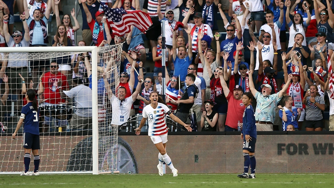 Watch all three of Alex Morgan's goals vs  Japan in the Tournament of  Nations