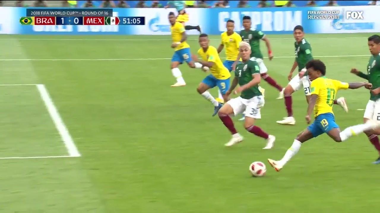 Neymar gives Brazil a lead over Mexico with a brilliant goal