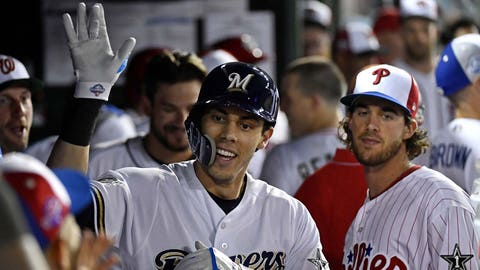 Christian Yelich, Brewers outfielder (↑ UP)