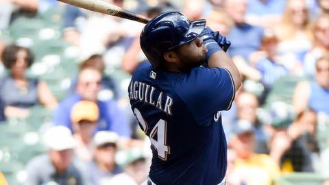 #1 - Jesus Aguilar - Milwaukee Brewers
