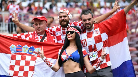 Croatia's 4.3 million came in hopes of a first title
