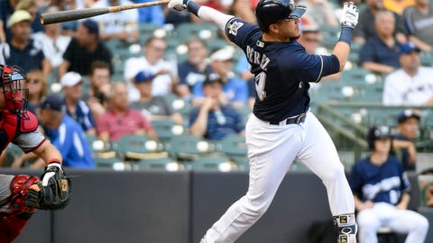 Hernan Perez, Brewers hitter (↑ UP)