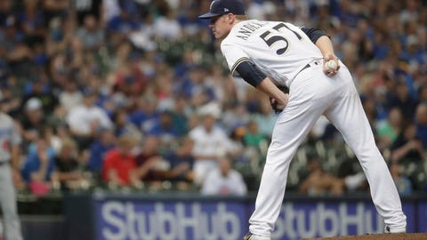 Chase Anderson, Brewers pitcher (↑ UP)