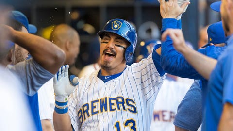 Tyler Saladino, Brewers shortstop (↑ UP)