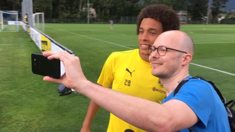 Axel Witsel trains with Borussia Dortmund for the first time