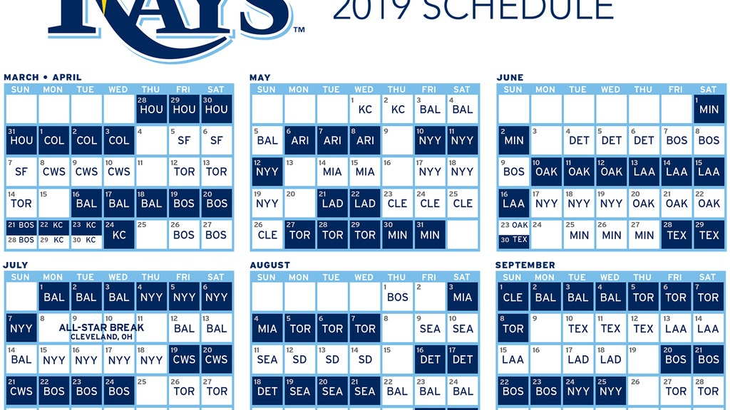 photograph relating to Houston Astros Printable Schedule named Rays announce 2019 program, will host Astros for Opening