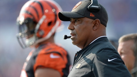 <p>               Cincinnati Bengals head coach Marvin Lewis watches his team play during the first half of a preseason NFL football game against the Buffalo Bills Sunday, Aug. 26, 2018, in Orchard Park, N.Y. (AP Photo/Adrian Kraus)             </p>