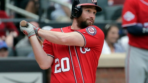 <p>               FILE - In this July 15, 2018, file photo, Washington Nationals' Daniel Murphy hits a two-run single during the seventh inning of a baseball game against the New York Mets at Citi Field in New York. The Nationals have traded second baseman Daniel Murphy to the Chicago Cubs and first baseman Matt Adams to the St. Louis Cardinals, essentially throwing in the towel on a disappointing season. The third-place Nationals announced the moves Tuesday, Aug. 21, 2018,  before beginning a three-game series against the Philadelphia Phillies.(AP Photo/Seth Wenig, File)             </p>