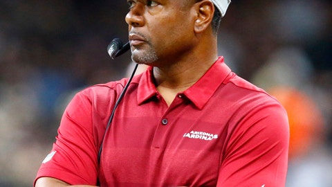 <p>               FILE - In this Aug. 17, 2018, file photo, Arizona Cardinals head coach Steve Wilks watches from the sideline in the first half of an NFL preseason football game against the New Orleans Saints, in New Orleans. The big-play, fling it down the field offense of Bruce Arians has been replaced by a run-oriented game that features toughness up front, and a stout defense emphasizing physical play, especially in the secondary. At least that's the way first-year coach Steve Wilks envisions it.  (AP Photo/Butch Dill, File)             </p>
