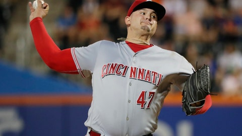 <p>               Cincinnati Reds' Sal Romano delivers a pitch during the second inning of the team's baseball game against the New York Mets on Tuesday, Aug. 7, 2018, in New York. (AP Photo/Frank Franklin II)             </p>