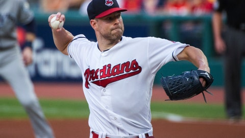 <p>               Cleveland Indians starting pitcher Corey Kluber delivers to a Tampa Bay Rays batter during the first inning of a baseball game in Cleveland, Friday, Aug. 31, 2018. (AP Photo/Phil Long)             </p>