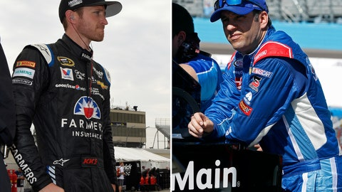 <p>               FILE - At left, in a May 29, 2015, file photo, Kasey Kahne looks on during practice for a NASCAR Sprint Cup series auto race in Dover, Del. At right, in a March 12, 2016, file photo, Elliott Sadler looks on from pit road during NASCAR Xfinity Series qualifying in Avondale, Ariz. Kahne and Sadler, two of the more popular NASCAR drivers over the last two decades, are both stepping away from full-time racing at the end of the season. (AP Photo/File)             </p>