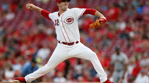 <p>               Cincinnati Reds starting pitcher Matt Harvey throws to a San Francisco Giants batter during the first inning of a baseball game Saturday, Aug. 18, 2018, in Cincinnati. (AP Photo/Gary Landers)             </p>