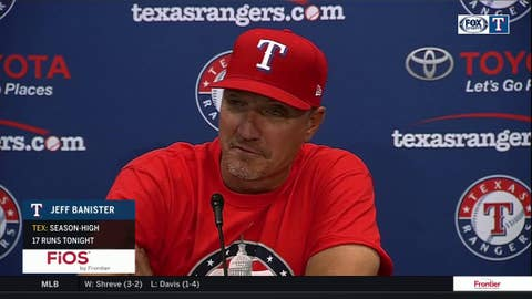 Jeff Banister on Rougies 5-Walk game in win over Baltimore