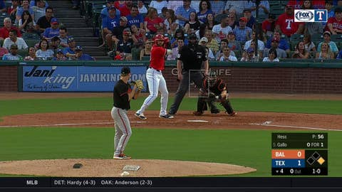 WATCH: Joey Gallo hits a Two-Run Bomb in 4th | Orioles at Rangers