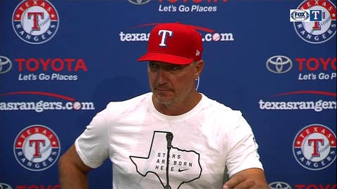 Jeff Banister on Rangers being 'In a grove'