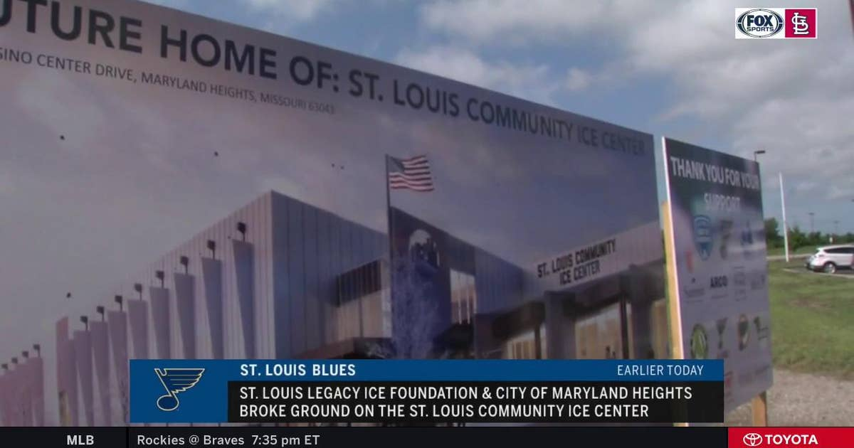 Blues break ground on community ice center