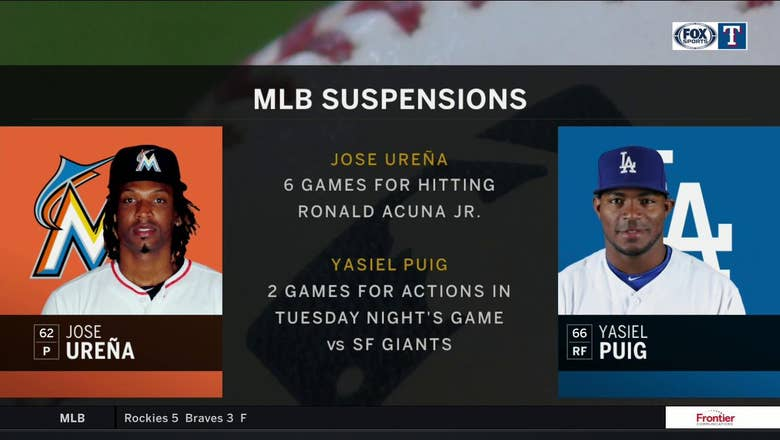 Jose Urena, Yasiel Puig Suspended | The Big Story