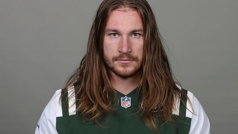 FILE - This is a June 2018 photo of Dylan Donahue of the New York Jets NFL football team. Donahue has pleaded guilty to DWI charges in connection with a wrong-way crash in the Lincoln Tunnel. Donahue entered the plea Wednesday, Aug. 1, 2018, in Weehawken (N.J.) Municipal Court. As part of a plea deal, three other charges were dismissed. Donahue also will have to drive with an ignition interlock device for a year after his license is reinstated. (AP Photo, File)