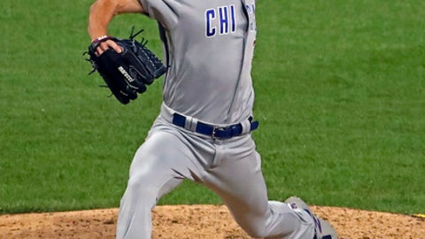 Chicago Cubs starting pitcher Cole Hamels delivers during the sixth inning of the team's baseball game against the Pittsburgh Pirates in Pittsburgh, Wednesday, Aug. 1, 2018. (AP Photo/Gene J. Puskar)