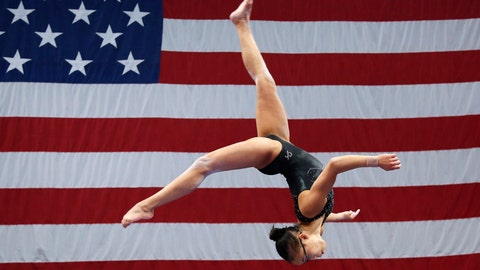 <p>               Morgan Hurd practices on the balance beam during a training session at the U.S. Gymnastics Championships, Wednesday, Aug. 15, 2018, in Boston. The mandate to change the culture within USA Gymnastics will take years. Yet there are small signs at the U.S. Championships that the process has already begun under new high performance director Tom Forster, from quiet chats during the middle of meets to impromptu phone calls of encouragement. (AP Photo/Elise Amendola, File)             </p>