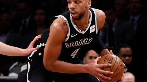 <p>               FILE - In this Jan. 8, 2018, file photo, Brooklyn Nets center Jahlil Okafor (4) looks to pass during the first half of an NBA basketball game against the  Toronto Raptors in New York. A person familiar with the situation says free-agent center Jahlil Okafor has agreed to join the New Orleans Pelicans. The person spoke to the The Associated Press Wednesday, Aug. 8, 2018, on condition of anonymity because the agreement has not been announced.  (AP Photo/Adam Hunger, File)             </p>