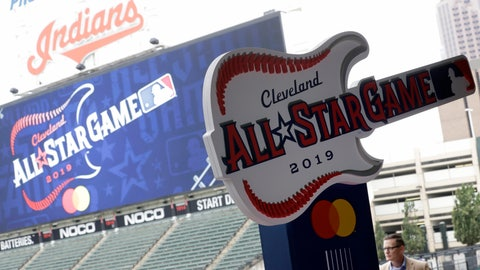 <p>               The new logo for the 2019 All-Star Game is displayed, Tuesday, Aug. 7, 2018, in Cleveland. Indians took the rock 'n' roll route with a logo for the 2019 All-Star Game that won't offend anyone. The Indians are hosting the event for the sixth time, and next year's game coincides with the 25th anniversary of Progressive Field. (AP Photo/Tony Dejak)             </p>