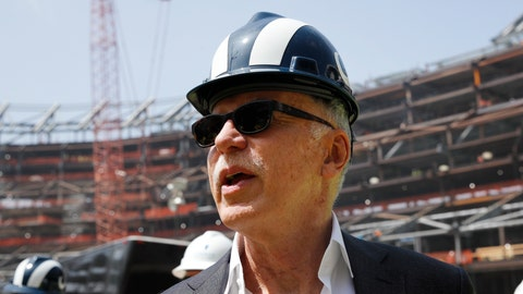 <p>               FILE - In this file photo dated Thursday, June 14, 2018, Los Angeles Rams owner Stan Kroenke tours the team's new NFL football stadium, in Inglewood, Calif. USA.  In a statement published Tuesday Aug. 7, 2018, majority shareholder Kroenke has made an offer to take full ownership of England's Arsenal soccer club in a deal that would value the Premier League club at 1.8 billion pounds (US dollars 2.3 billion). (AP Photo/Jae C. Hong)             </p>