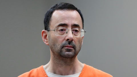 <p>               FILE - In this Nov. 22, 2017, file photo, Dr. Larry Nassar appears in court for a plea hearing in Lansing, Mich. Authorities say disgraced former sports doctor Larry Nassar has been transferred to another federal prison facility. The Federal Bureau of Prisons website on Sunday, Aug. 19, 2018, shows the former Michigan State University and USA Gymnastics doctor is at the Oklahoma Federal Transfer Facility. He had been imprisoned in Tucson, Arizona. (AP Photo/Paul Sancya, File)             </p>