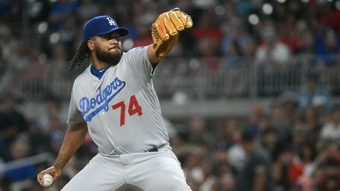 <p>               FILE - In this Friday, July 27, 2018, file photo, Los Angeles Dodgers relief pitcher Kenley Jansen (74) works against the Atlanta Braves during a baseball game in Atlanta. Out since Thursday, Aug. 9, with an irregular heartbeat, Jansen expects to have a second heart surgery in the offseason but is confident he'll be able to come off the disabled list within the next few weeks. (AP Photo/John Amis, File)             </p>