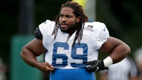 <p>               FILE - In this Aug. 17, 2018, file photo, Indianapolis Colts'  Deyshawn Bond (69) warms up during a joint practice with the Baltimore Ravens at the Colts NFL football training camp in Westfield, Ind. Bond remembers camping out inside a cramped hotel room late last summer. There he reveled in the sound of silence because he knew he probably made the team as an undrafted rookie. But in those first 24 hours Bond learned some lessons about dealing with the angst of cutdown weekend. And now he's providing advice to teammates who find themselves in the same position this year.(AP Photo/Michael Conroy, File)             </p>